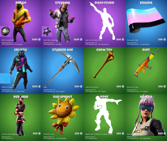 whats in the item shop-0