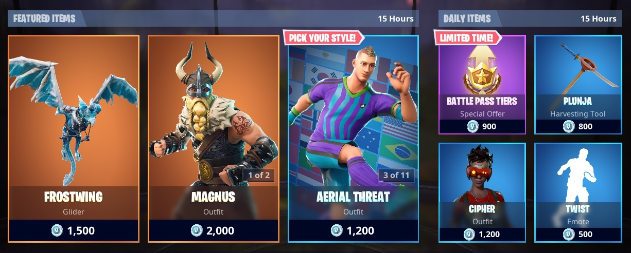 whats in the item shop-1