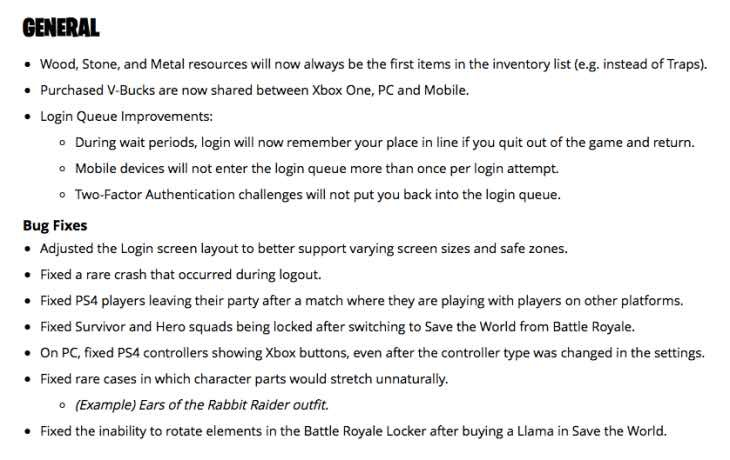 fortnite latest patch notes-3