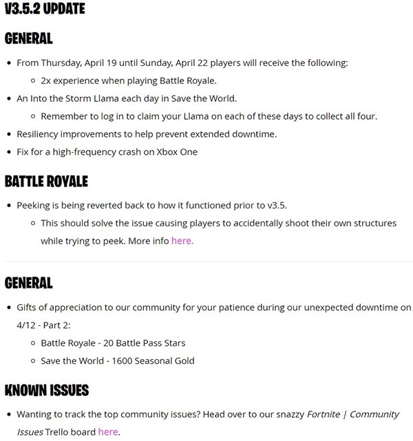 fortnite latest patch notes-5