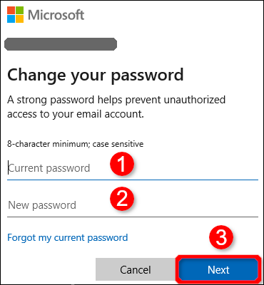 microsoft account change password-3
