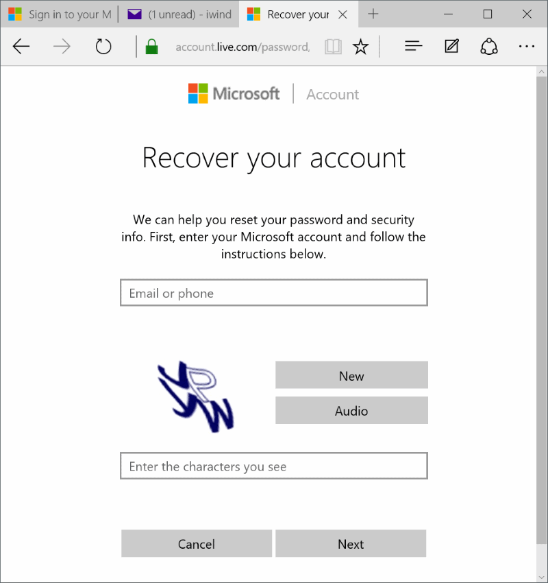 microsoft account change password-4