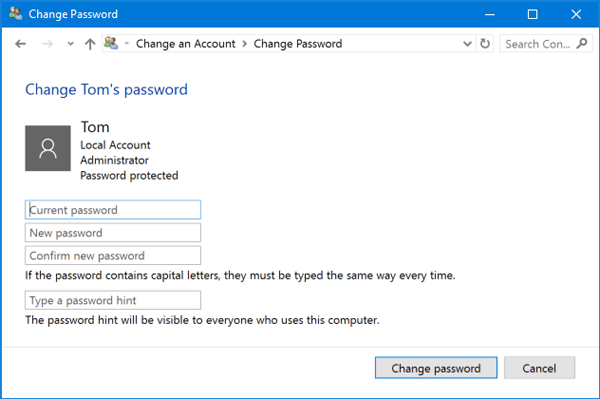 microsoft account change password-6