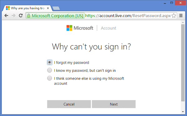 microsoft account change password-7