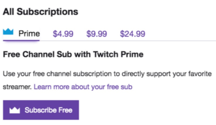 how to use twitch prime sub-3