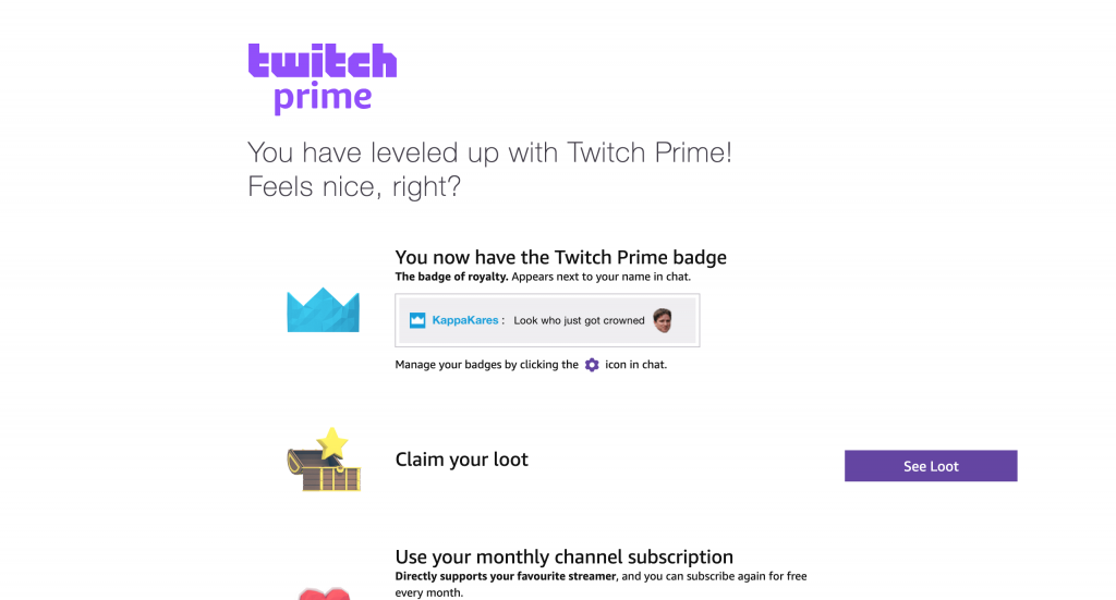 how to use twitch prime sub-7