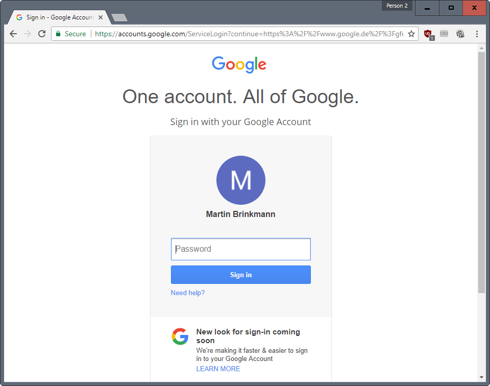 google sign in page-1
