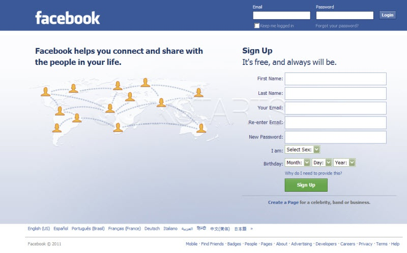facebook homepage login google-1