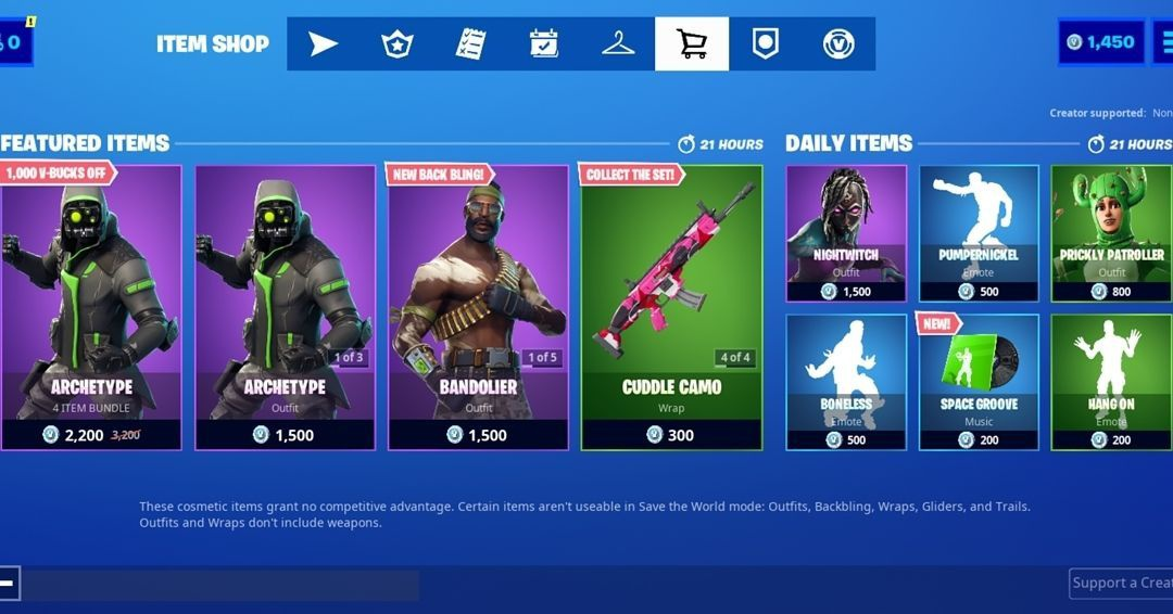 fortnite current item shop-7