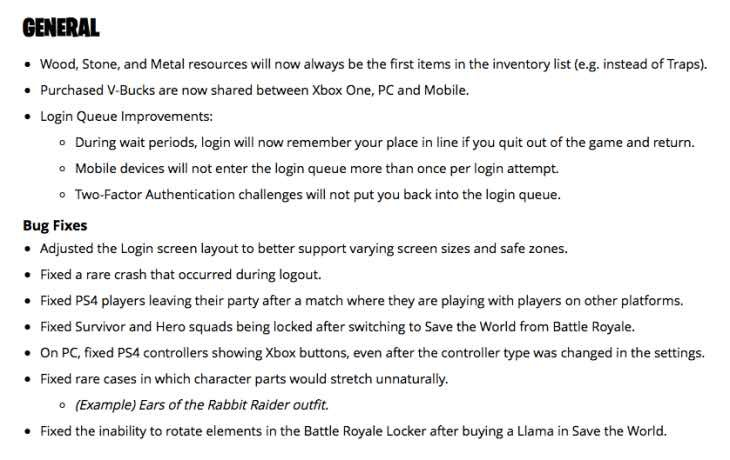 fortnite latest patch notes-4
