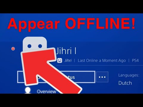 how to appear offline on ps4-4