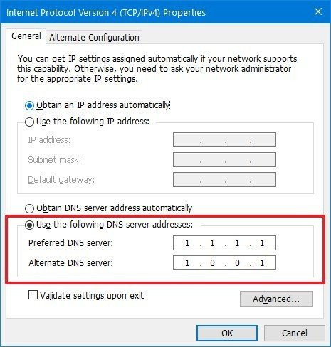 how to change dns-1