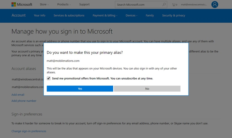 change xbox live email-3