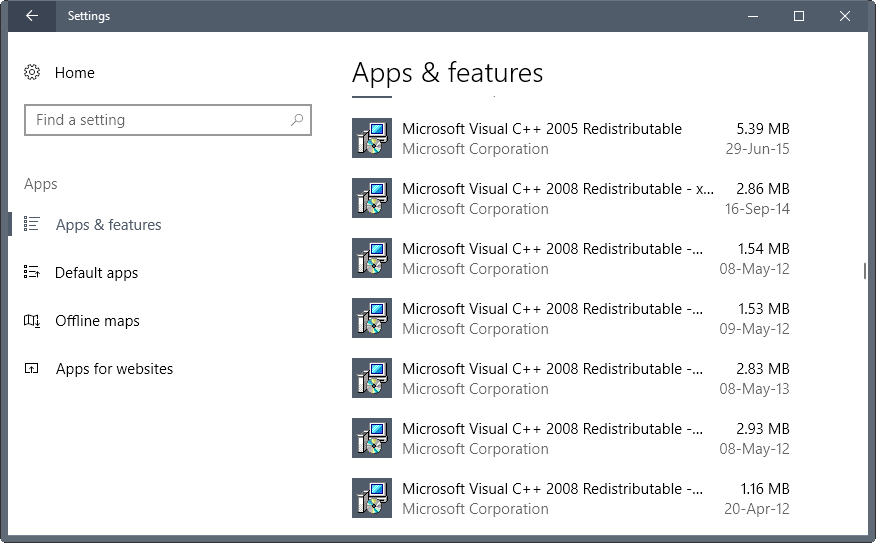 visual c++ redistributable 2015-2