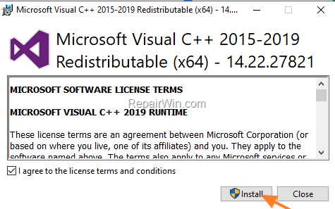 visual c++ redistributable 2015-8