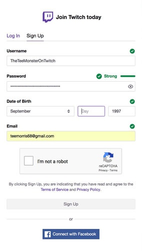 create a twitch account-1