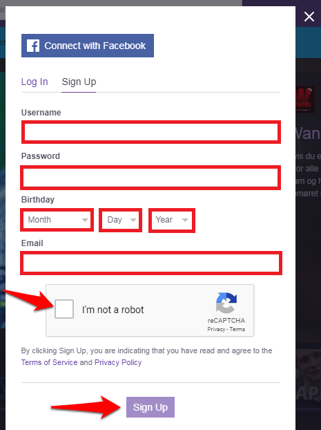 create a twitch account-4