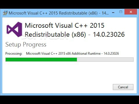 microsoft visual c++ 2015 redistributable-1