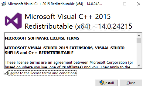 microsoft visual c++ 2015 redistributable-2