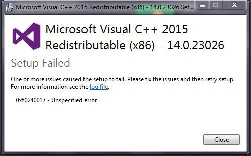 microsoft visual c++ 2015 redistributable-4