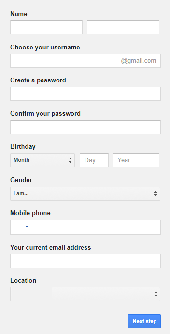 gmail sign up page-4
