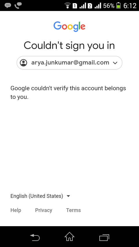 google can't verify my account-2