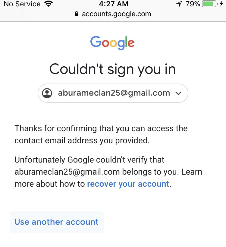 google can't verify my account-4
