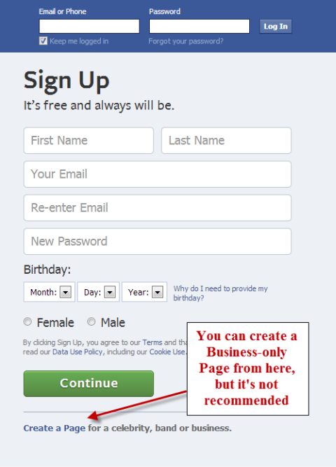 facebook sign up page-4