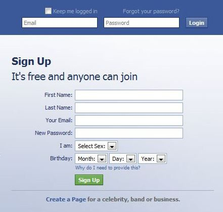facebook sign up page-7