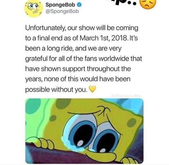 when will spongebob end-3